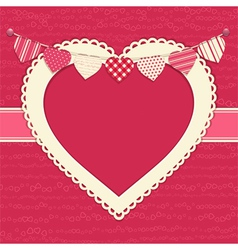 Valentine and heart bunting background vector