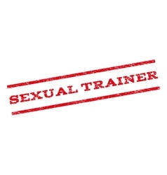 Sexual Trainer Watermark Stamp vector image