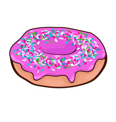 Fast food sweet donut concept vector