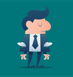 Businessman would be bankrupt cartoon vector