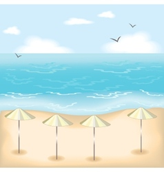 Sandy beach vector