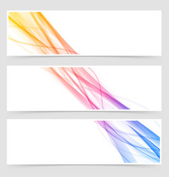 Cool modern abstract stream flyer collection vector