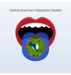 Central american integration system flag vector