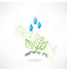 Leafs under the rain vector image