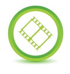 Green movie icon vector