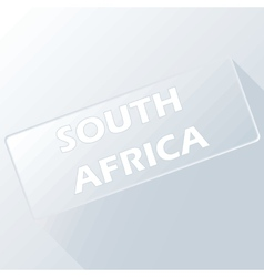 South africa unique button vector