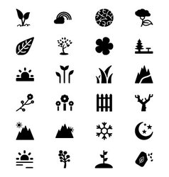 Nature Icons 5 vector image