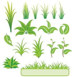 Green elements for design vector
