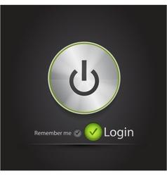 login black modern n background vector image