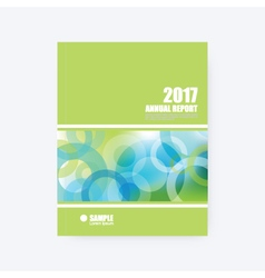 Annual report cover brochure template vector image