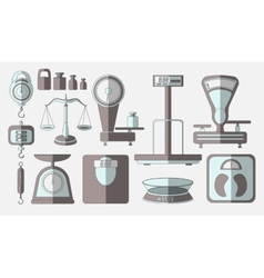 Set of scales vector image