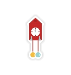 stylish paper sticker on white background vector image