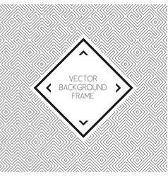 background pattern with frame vector image