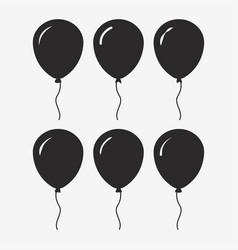 balloon black icon vector image vector image