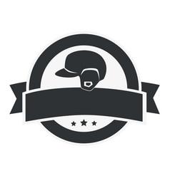 Baseball sport helmet emblem icon vector