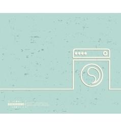 Creative washing machine art vector