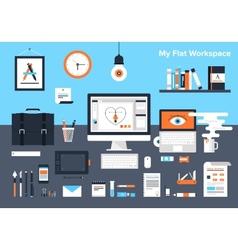 Designer workplace vector image vector image