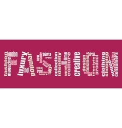 Fashion Keywords Tag Cloud vector image