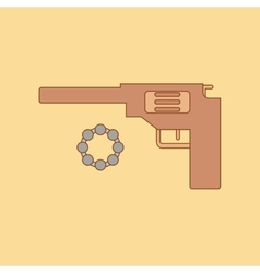 Flat icon on background kids toy pistol vector