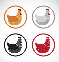 Group of hen design vector