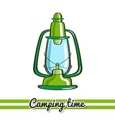 Lantern camping equipment vector