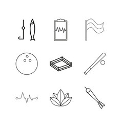 Medical linear icon set simple outline icons vector