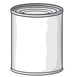Metal can vector