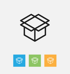 of trade symbol on package vector image