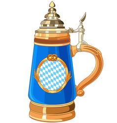 Oktoberfest mug vector
