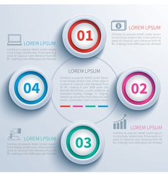 paper circle infographic vector image vector image
