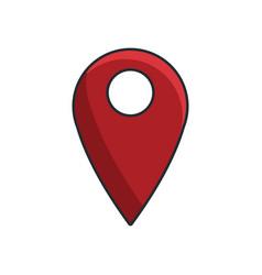 pin location symbol vector image