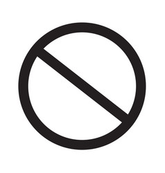 prohibition sign on white background prohibition vector image vector image