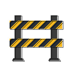 roadblock road safety icon image vector image