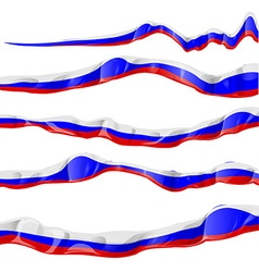 russia flag collection horizontal on white vector image vector image