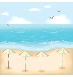 Sandy beach vector image