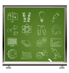 science and education Icons vector image vector image