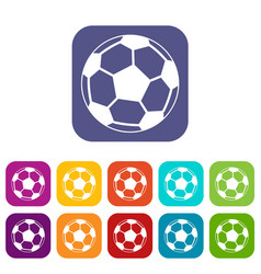 Soccer ball icons set vector