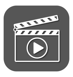 The clapper board icon Play symbol Flat vector image