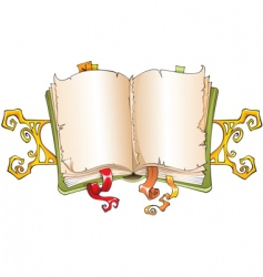 torn book vector image