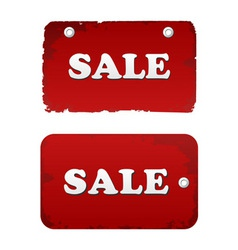 vector red sale set discount tags labels vector image