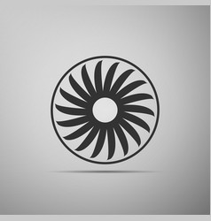 Ventilation sign icon ventilator symbol flat icon vector