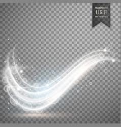 White light streak effect design vector