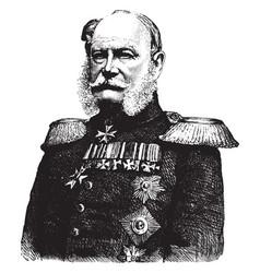 William i emperor of germany vintage vector