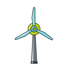Windmil icon on white background vector