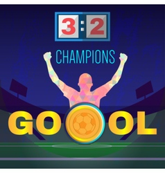 Digital  football and soccer champions vector