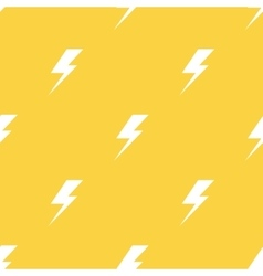 White lightnings yellow seamless pattern vector