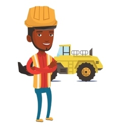 Adult confident miner vector