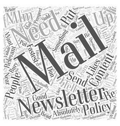 Mlm e mail newsletters and what you need for vector