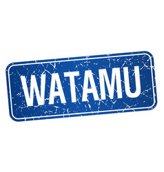 Watamu blue stamp isolated on white background vector