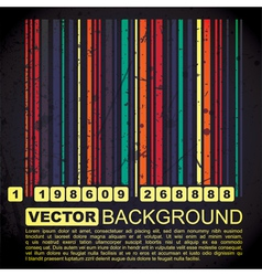 Grunge barcode background vector image